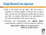 simple binomial tree approach