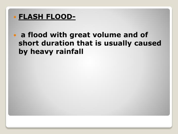FLASH FLOOD-