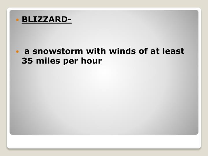 BLIZZARD-