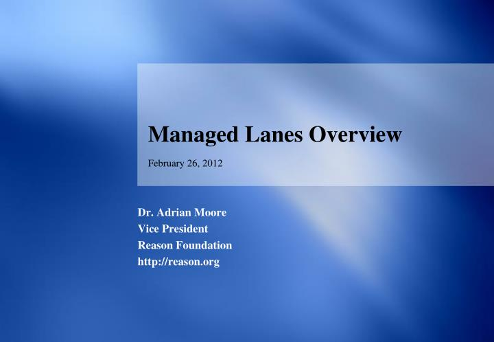 managed lanes overview n.