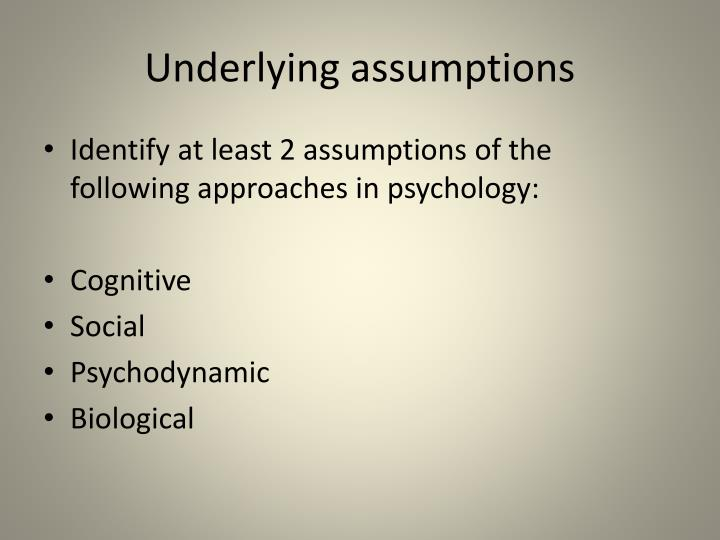 culture and underlying sociological assumptions An understanding of social and cultural forces does help to answer, how do people get addicted it is true that individuals affected by cultural these are culture, families, and social support because individuals can do very little to directly change these influences, our focus is how knowledge and.