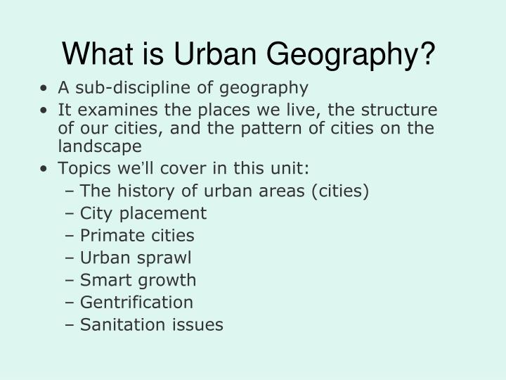what is urban geography n.