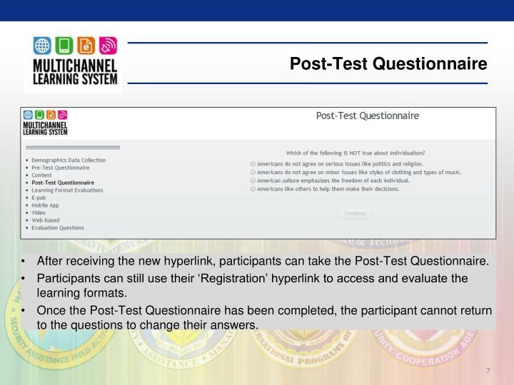 Post-Test Questionnaire