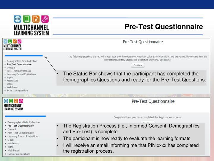 Pre-Test Questionnaire