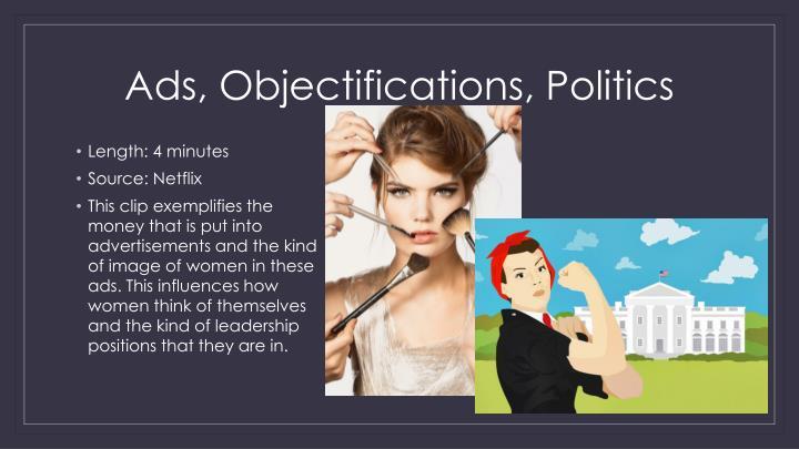 Ads, Objectifications, Politics