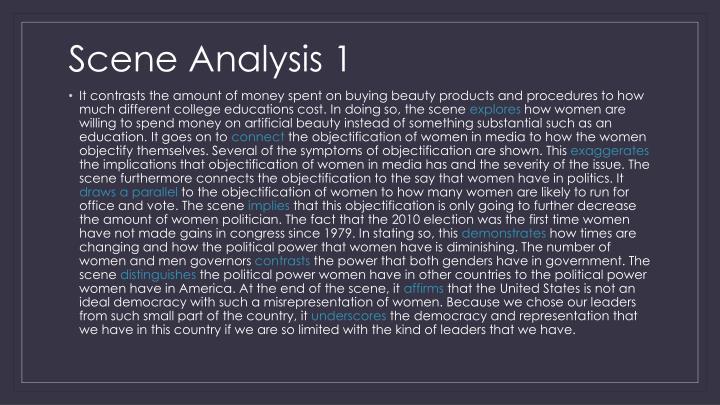 Scene Analysis 1