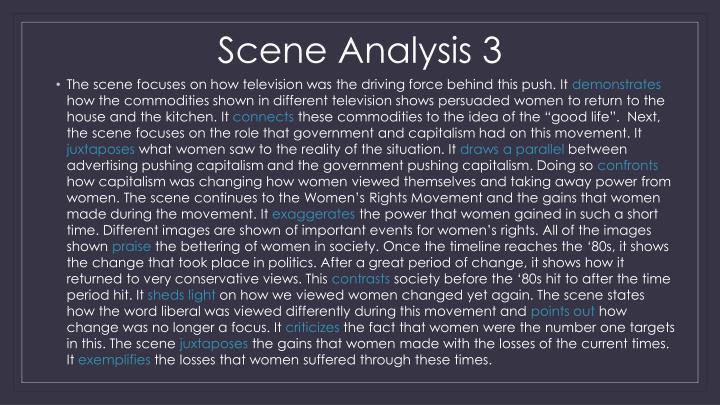 Scene Analysis 3