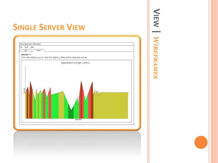 Single Server View