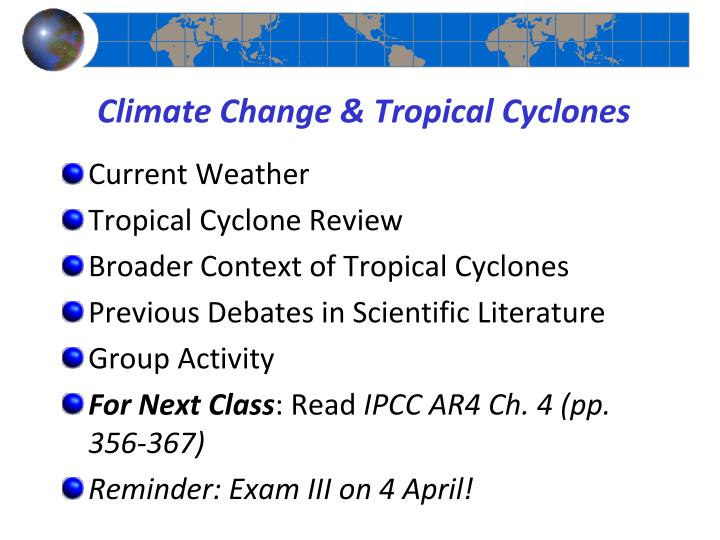 climate change tropical cyclones n.