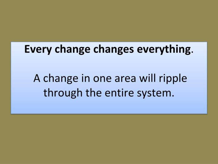 Every change changes
