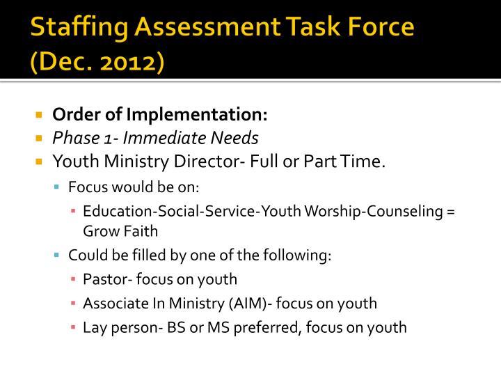 Staffing Assessment Task Force