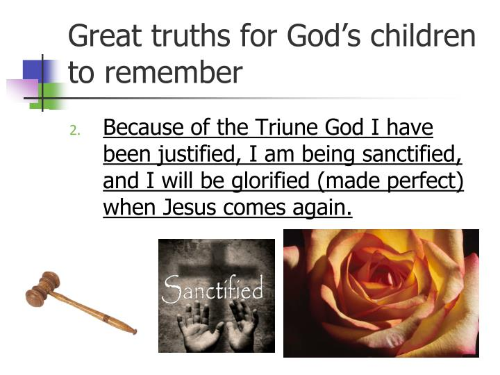 Great truths for God's children to remember