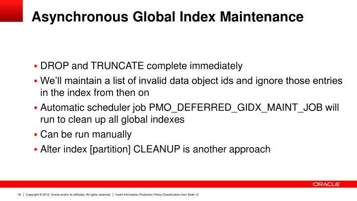 Asynchronous Global Index Maintenance