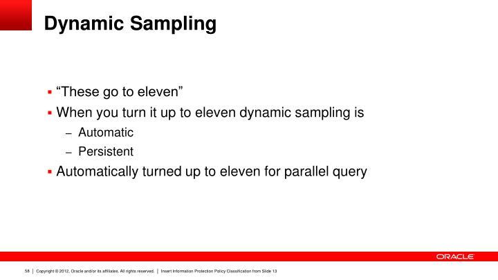 Dynamic Sampling