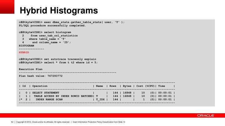 Hybrid Histograms