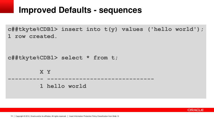 Improved Defaults - sequences