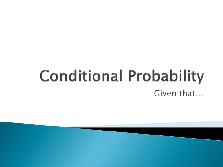 conditional probability n.