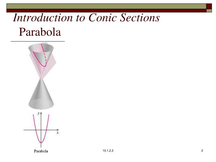 introduction to conic sections ppt sections 3 conic sections powerpoint cubes conic sections. Black Bedroom Furniture Sets. Home Design Ideas