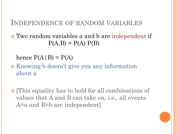 Independence of random variables