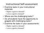 instructional self assessment
