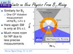 limits on new physics from b s mixing