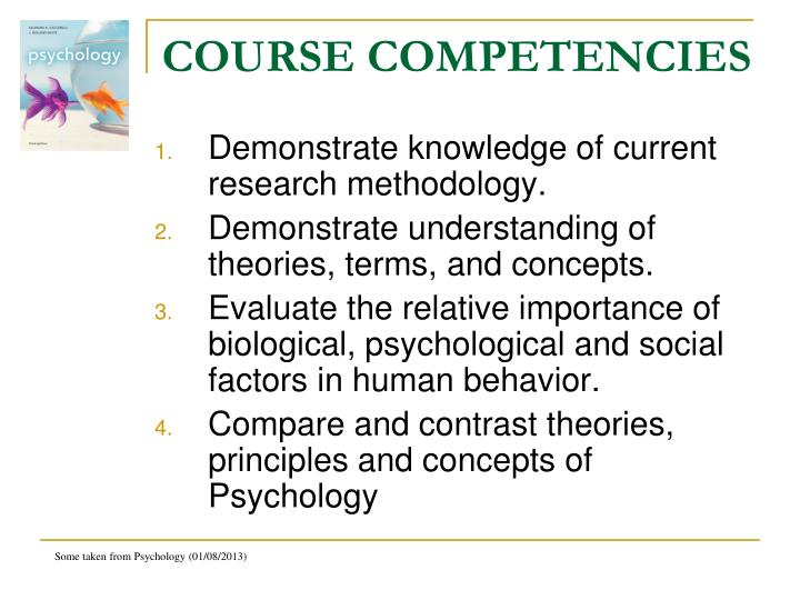 COURSE COMPETENCIES