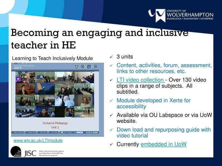Becoming an engaging and inclusive teacher in HE