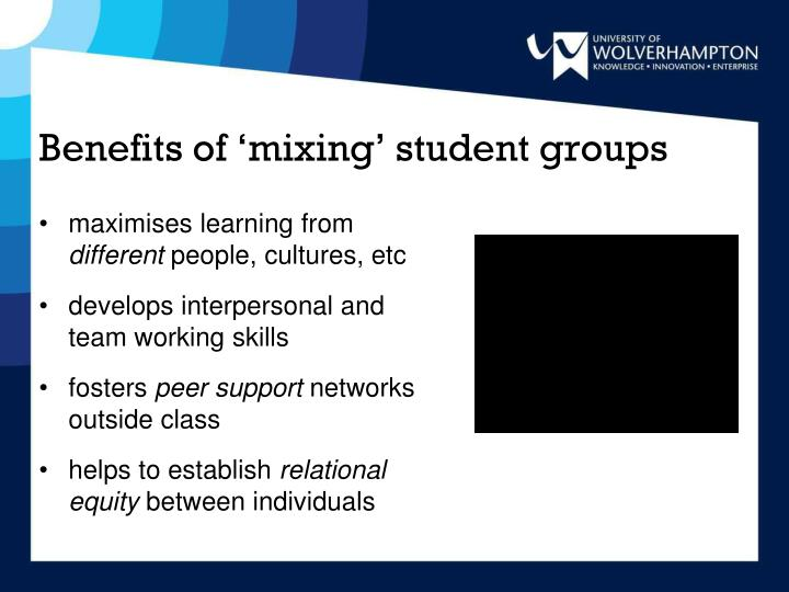 Benefits of mixing student groups