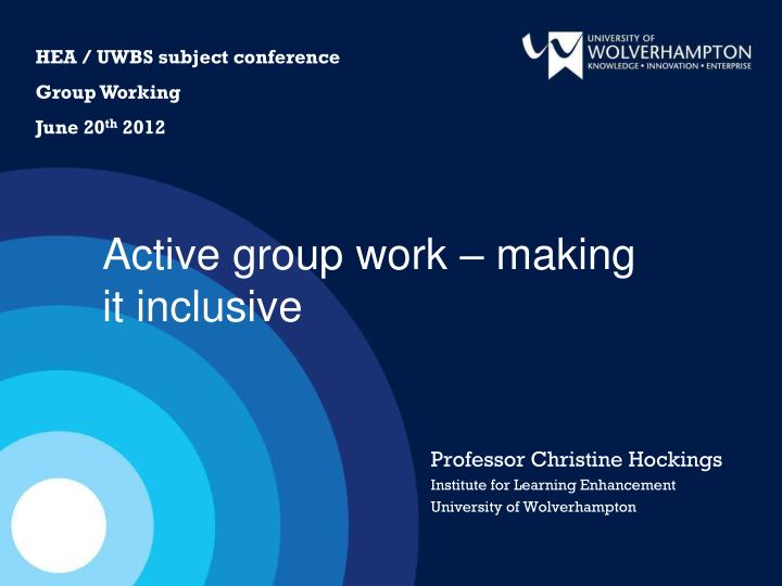 HEA / UWBS subject conference