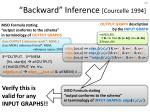 backward inference courcelle 1994