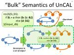 bulk semantics of uncal