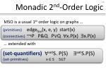 monadic 2 nd order logic