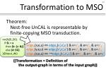 transformation to mso