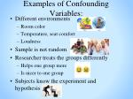 examples of confounding variables