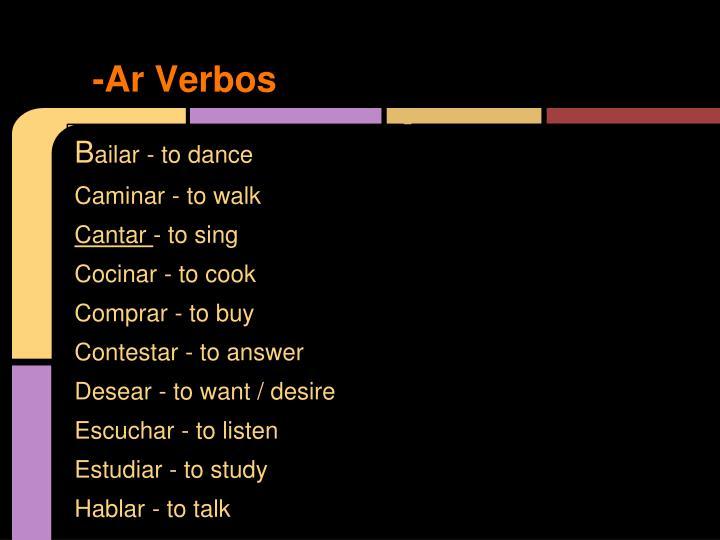 Ar verbos