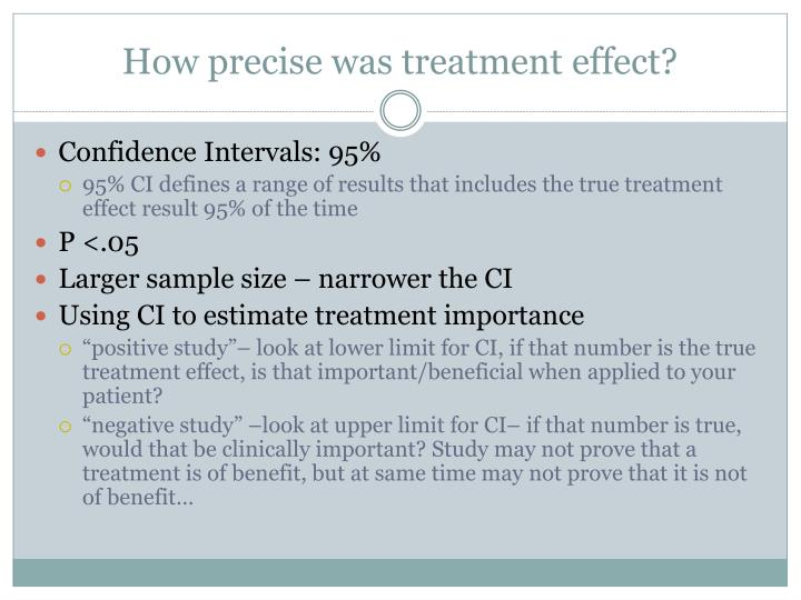 How precise was treatment effect?