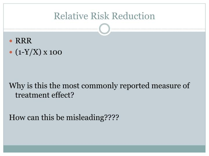 Relative Risk Reduction
