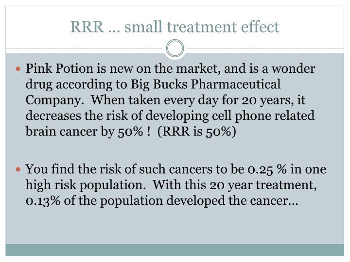 RRR … small treatment effect
