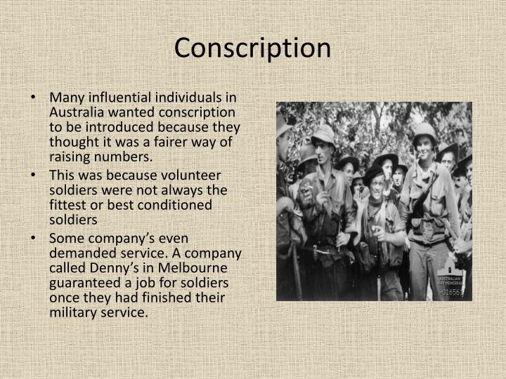 conscription argumentative Conscription and sexism both feminists [1] [2] [3] and opponents of discrimination against men [4] [5] : 102 have criticized military conscription , or compulsory military service, as sexist  feminists argue that military conscription is sexist because wars typically serve the interests of the patriarchy , therefore the military is inherently.