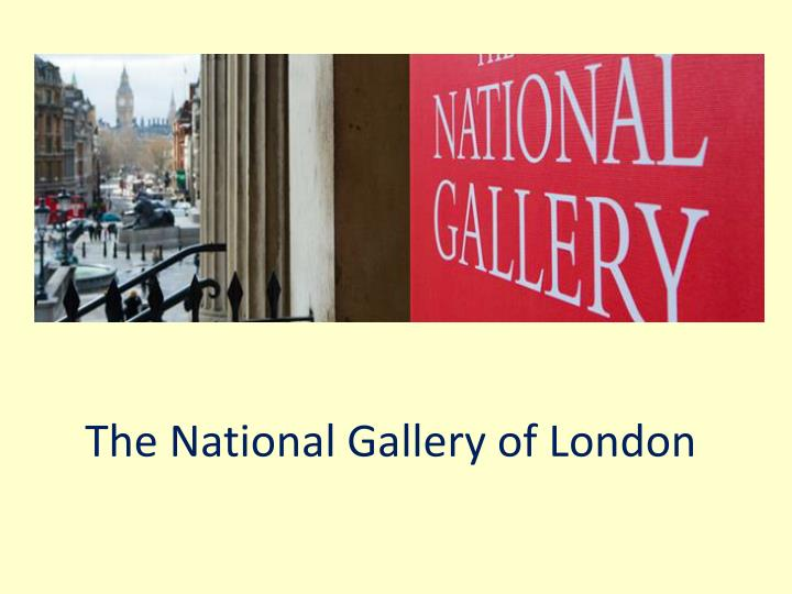 the national gallery of london n.
