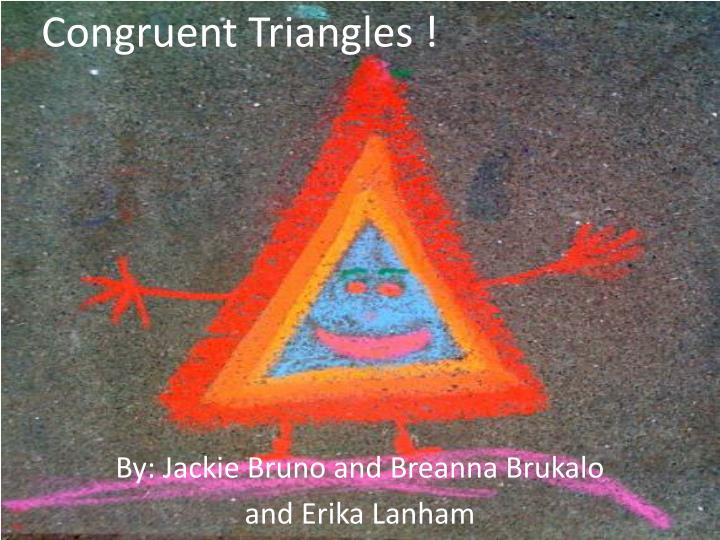 congruent triangles n.