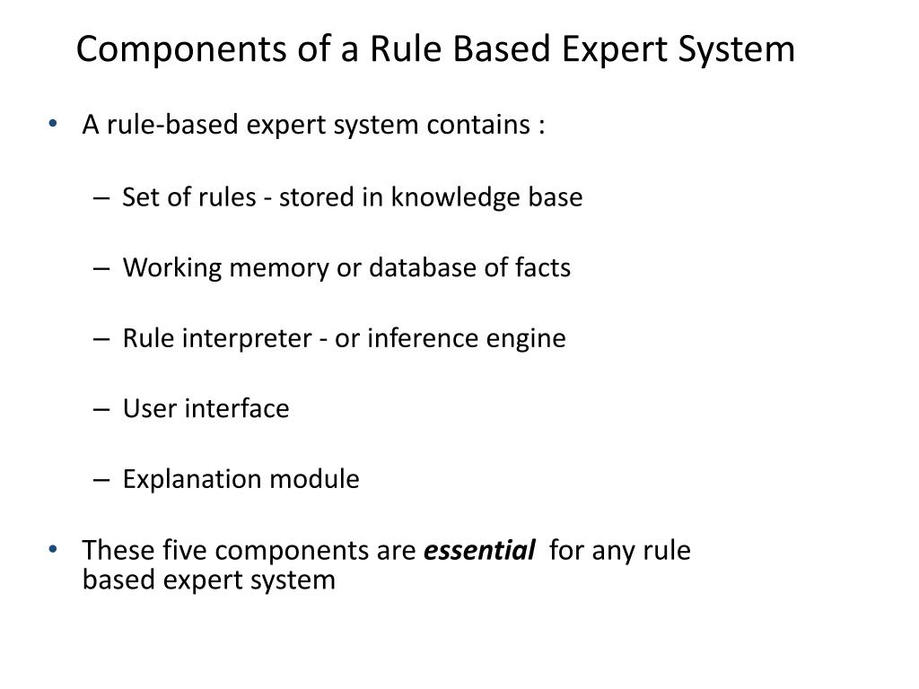 PPT - Rule-Based Expert System PowerPoint Presentation - ID:2838439