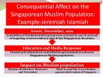 consequential affect on the singaporean muslim population example jeremiah islamiah