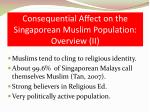 consequential affect on the singaporean muslim population overview ii