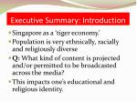 executive summary introduction