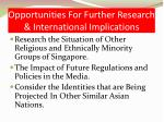 opportunities for further research international implications