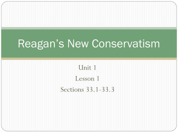 reagan s new conservatism n.
