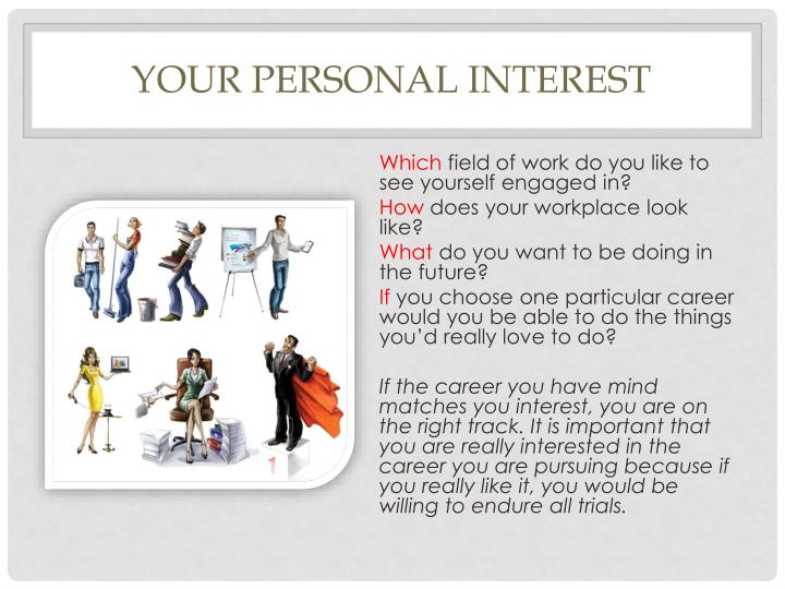 Your personal interest