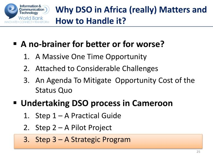 Why DSO in Africa (really) Matters and How to Handle it