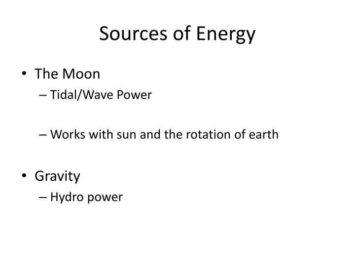 Sources of energy2